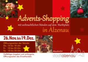 Adventsshopping 2020 Plakat